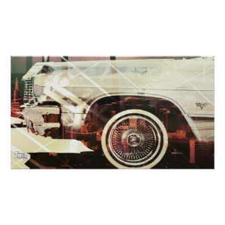 city car shaped poster