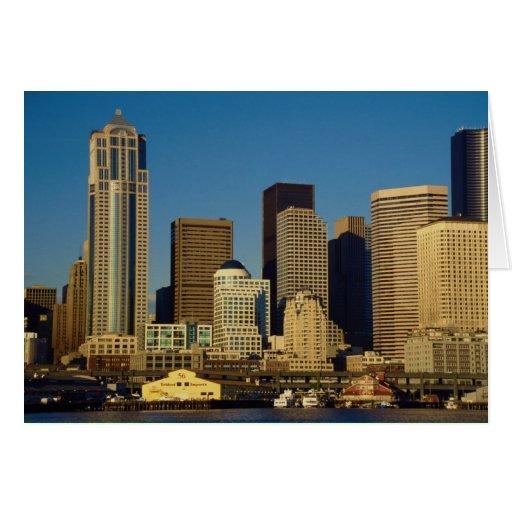 City Center Skyline, Seattle, Washington, U.S.A., Greeting Card