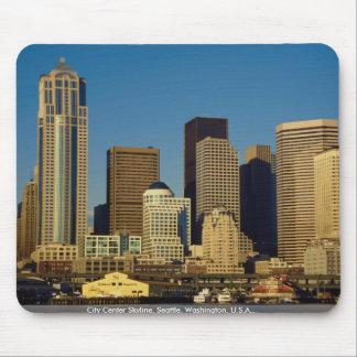 City Center Skyline, Seattle, Washington, U.S.A., Mouse Pads