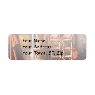 City - Chairs - RED Return Address Label