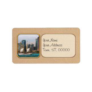 City - Chicago Il - Cruising in Chicago Address Label