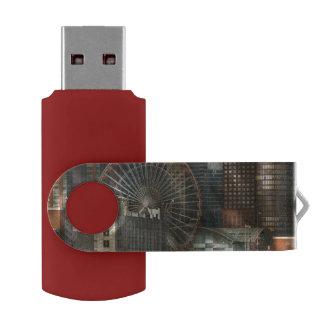 City - Chicago, IL - Pier Pressure Swivel USB 2.0 Flash Drive