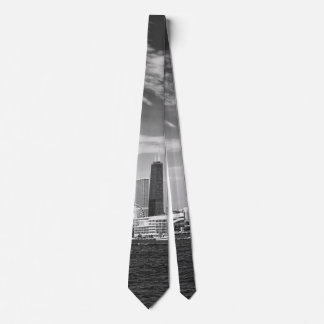 City - Chicago Skyline & The Navy Pier BW Tie