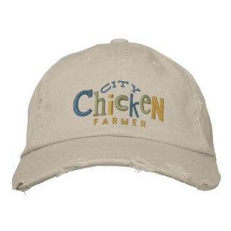 City Chicken Farmer Embroidery Hat Baseball Cap