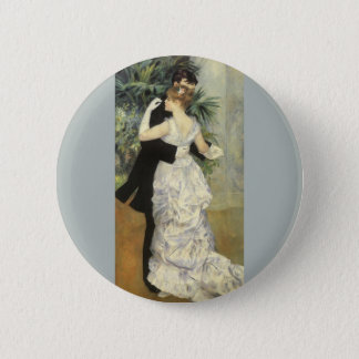 City Dance by Pierre Renoir, Vintage Fine Art 6 Cm Round Badge