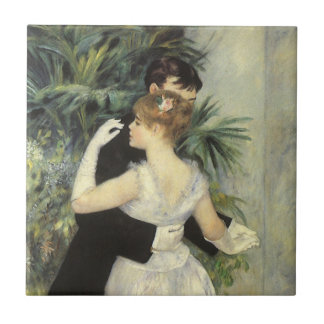 City Dance by Pierre Renoir, Vintage Fine Art Tile