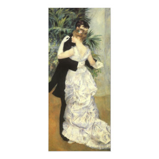 City Dance by Renoir, Vintage Art Wedding 10 Cm X 24 Cm Invitation Card