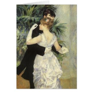 City Dance by Renoir, Vintage Impressionism Art Greeting Card