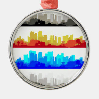 City Edge Silver-Colored Round Decoration