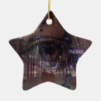 city eyes ceramic star decoration