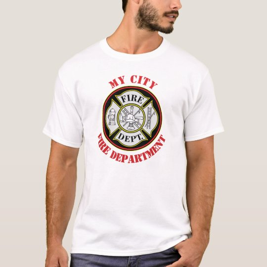 City Fire Department Round Badge T-Shirt