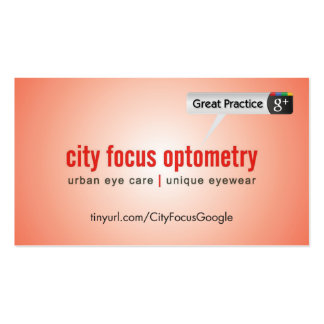 City Focus Optometry Pack Of Standard Business Cards