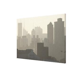 City Fog Canvas Print
