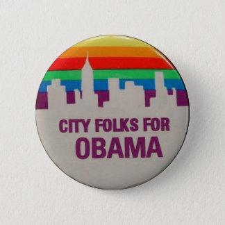 City Folks for Obama 6 Cm Round Badge