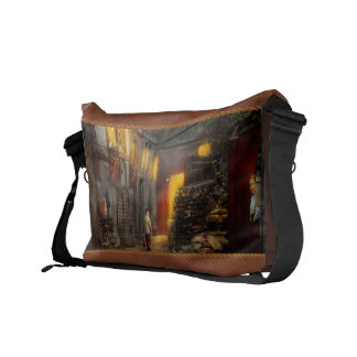 City - Germany - Alley - Coming home late 1904 Messenger Bag