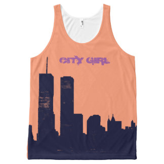 City Girl All-Over Print Tank Top