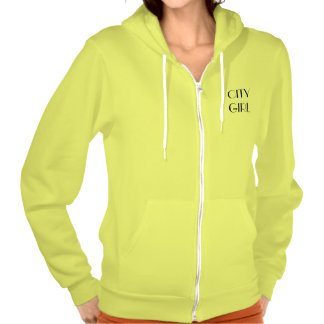 """""""CITY GIRL"""" American Apparel Fleece Zip Hoodie Pullover"""