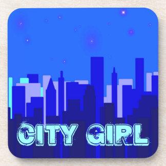 City Girl Cork Coaster