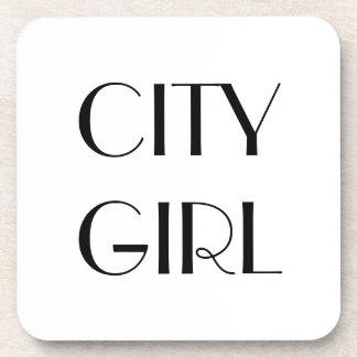 CITY GIRL Quote Coasters