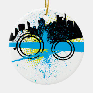 City Graffiti Christmas Tree Ornaments