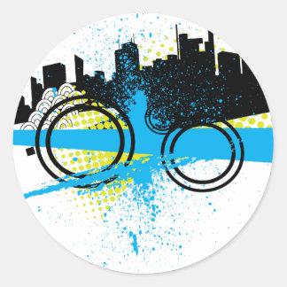 City Graffiti Classic Round Sticker