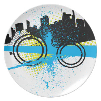 City Graffiti Dinner Plates