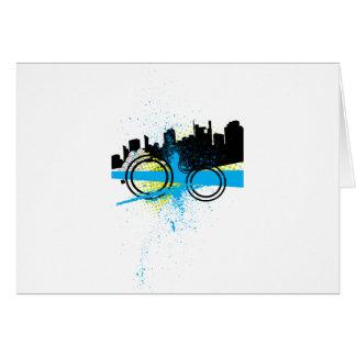 City Graffiti Greeting Card