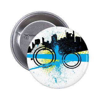 City Graffiti Pinback Buttons