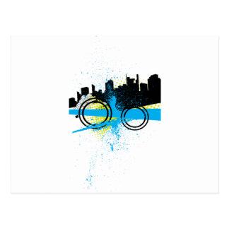 City Graffiti Post Card