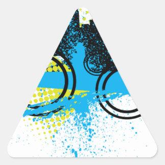 City Graffiti Triangle Sticker