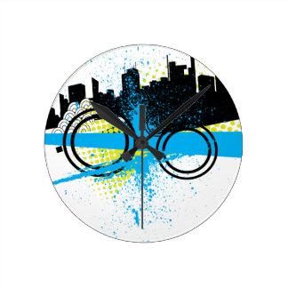 City Graffiti Wall Clocks