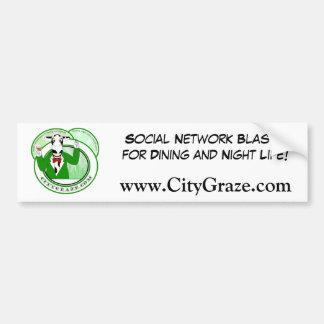City Graze Green Car Bumper Sticker