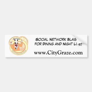City Graze Orange Bumper Sticker