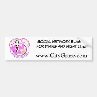 City Graze Pink Car Bumper Sticker