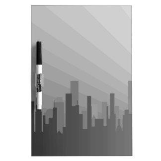 City Greyscape Dry Erase Boards
