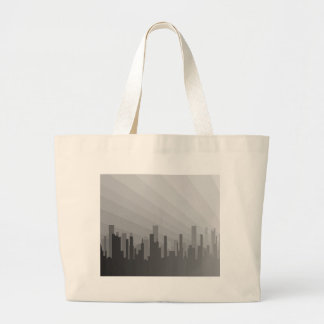 City Greyscape Large Tote Bag