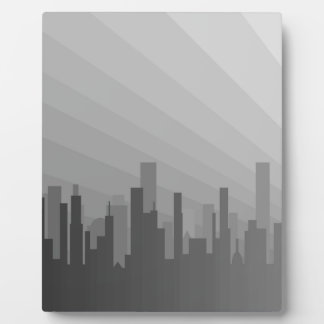 City Greyscape Photo Plaques