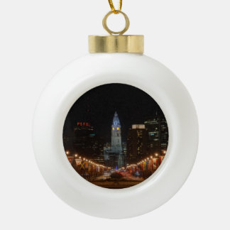 City Hall Ceramic Ball Christmas Ornament