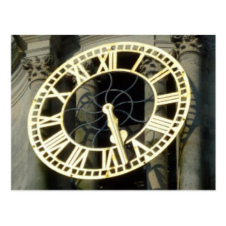 City Hall Clock. Cardiff, Wales, UK Postcard