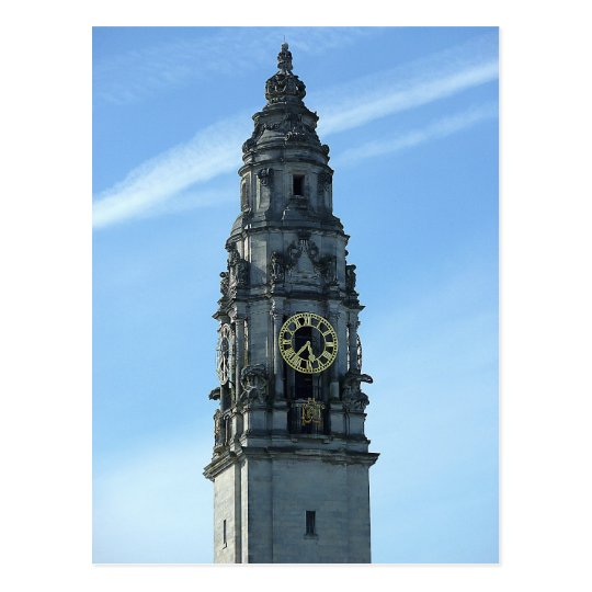 City Hall Clock Tower, Cardiff Postcard