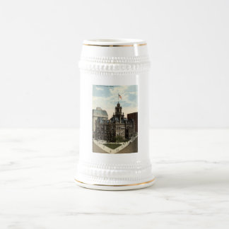 City Hall, Detroit, Michigan 1915 vintage Beer Stein