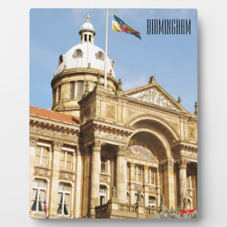 City Hall in Birmingham, England UK Plaque