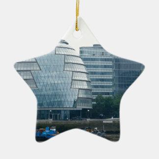 City Hall in London Ceramic Star Decoration