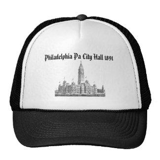 City Hall Philadelphia PA 1891 Mesh Hats