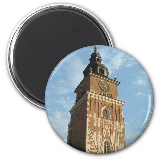 City Hall Tower 6 Cm Round Magnet