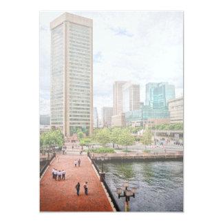 City - Harbor Place - Baltimore World Trade Center Personalized Invitation