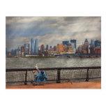City - Hoboken, NJ - Fishing - The good life Postcard