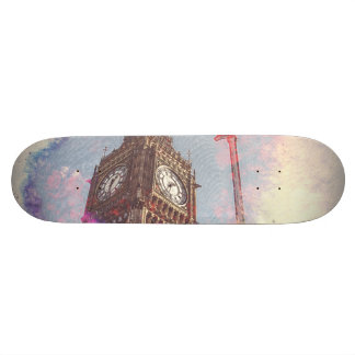 City in Nebula #purple #skateboard 21.3 Cm Mini Skateboard Deck