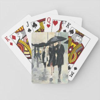 City in the Rain Poker Deck