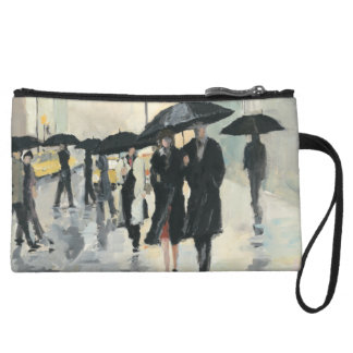 City in the Rain Wristlet